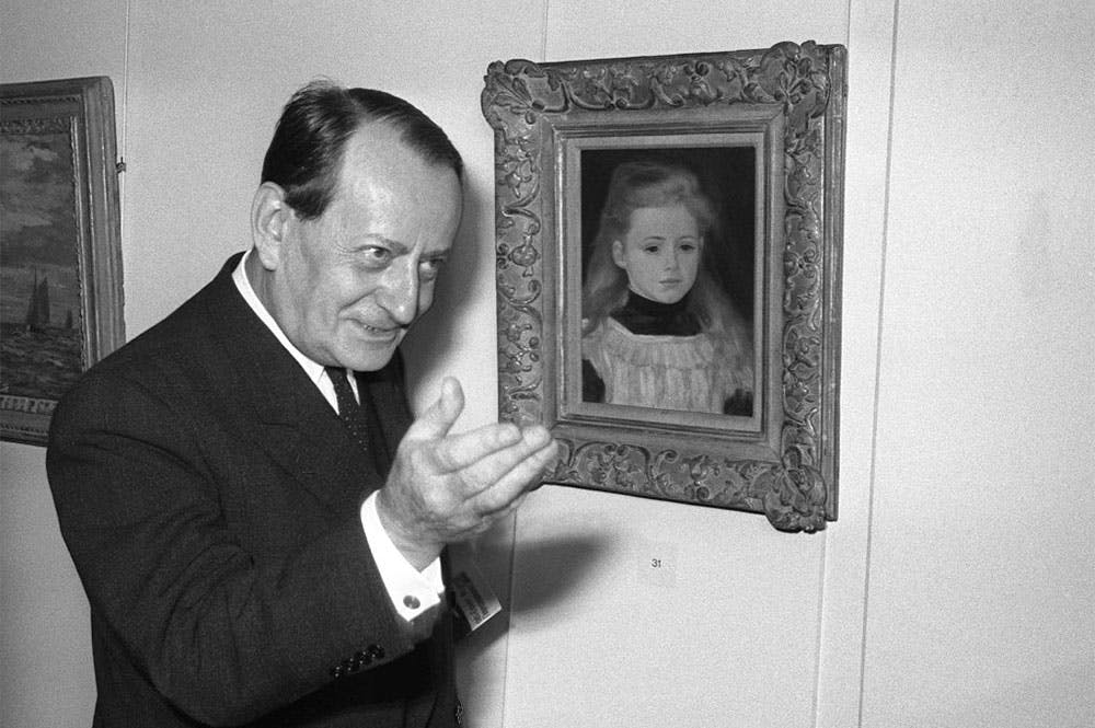 André Malraux, in his role as culture minister, inaugurating an Impressionist exhibition in Paris in 1966.