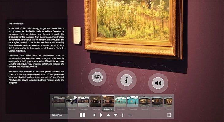 Screenshot of the Groeningemuseum virtual tour