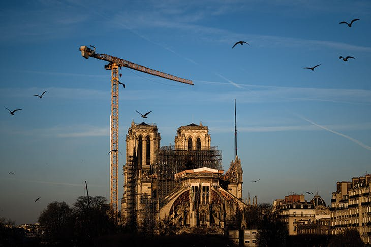 Notre-Dame Cathedral in Paris in January 2020.
