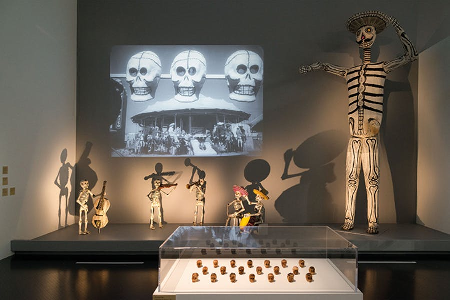 Installation view of 'The Ecstatic Eye: Sergei Eisenstein, a filmmaker at the crossroads of the arts' at the Pompidou-Metz in September 2019.