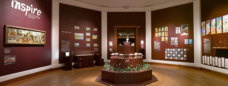 Installation view of 'Inspire2020' in the Octagon Gallery, Fitzwilliam Museum, Cambridge (10 December 2019–22 March 2020).