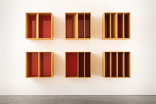 Untitled (1986) Donald Judd. Hessel Museum of Art, Center for Curatorial Studies, Bard College, Annandale‑on‑Hudson, New York.