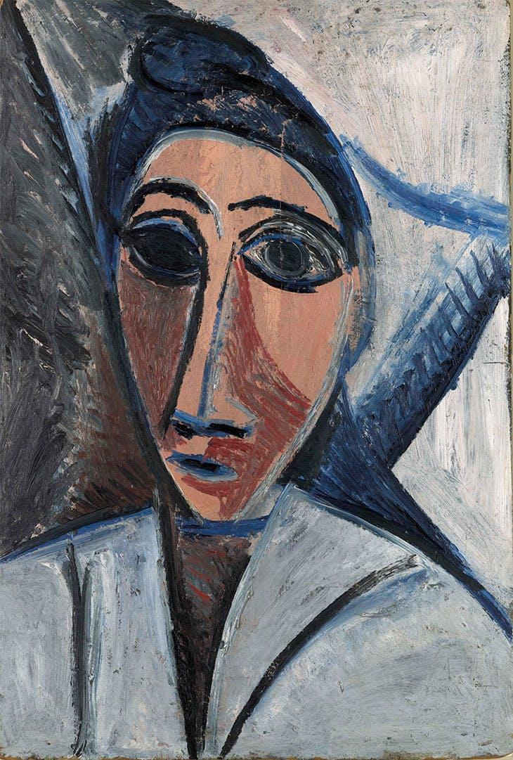 Bust of Woman or Sailor (Study for 'Les Demoiselles d'Avignon') (1907), Pablo Picasso.