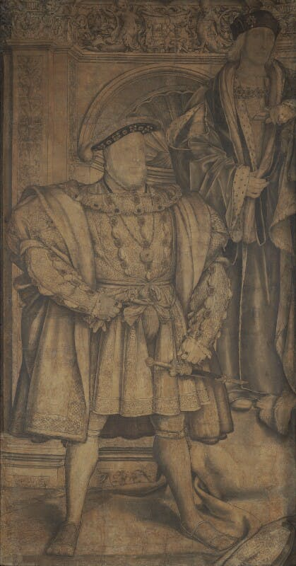 King Henry VIII; King Henry VII (c. 1536–37), Hans Holbein the Younger. National Portrait Gallery, London.