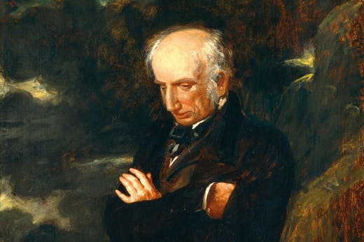 William Wordsworth (detail; 1842), Benjamin Robert Haydon. National Portrait Gallery, London