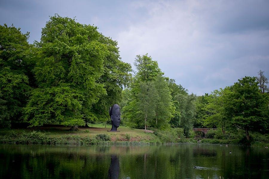 Wilsis (2016), Jaume Plensa, installation view at Yorkshire Sculpture Park.