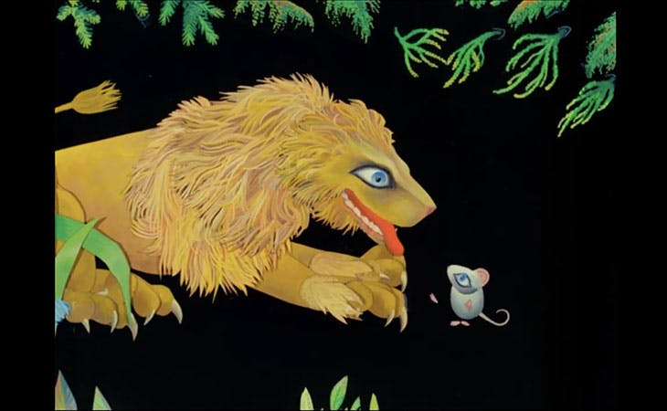The Lion And The Mouse (still; 1974), Evelyn Lambart