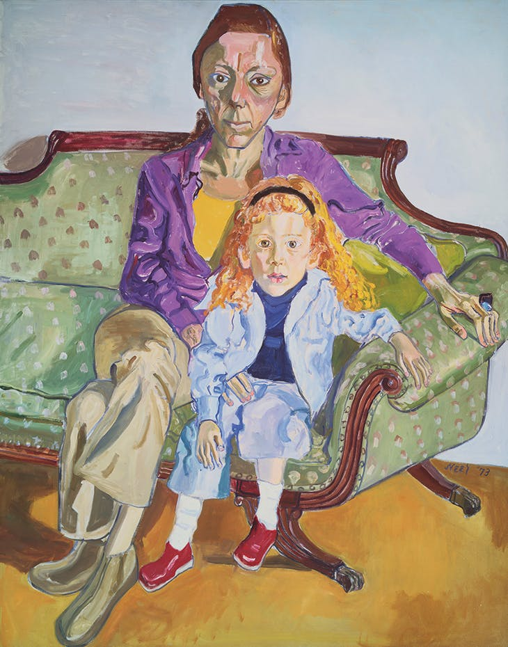 Linda Nochlin and Daisy (1973), Alice Neel. Museum of Fine Arts, Boston.