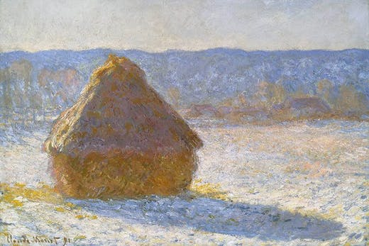 Grainstack (Snow Effect) (1891), Claude Monet.