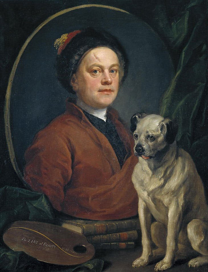 The Painter and his Pug (1745), William Hogarth