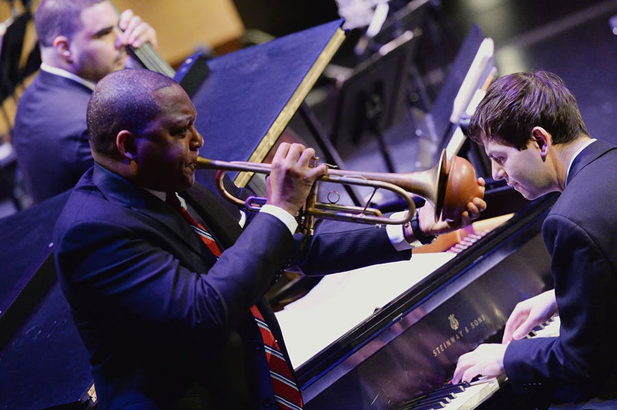 The Jazz at Lincoln Center Orchestra with Wynton Marsalis.