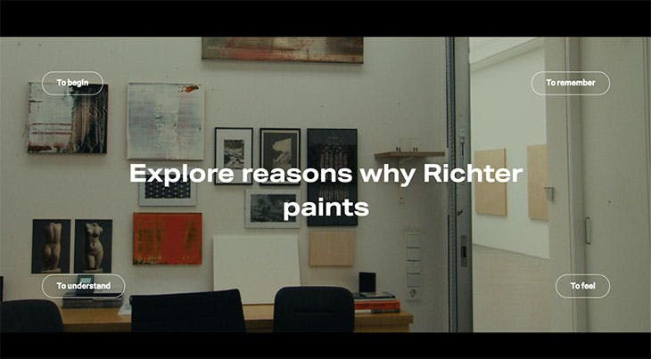 Screenshot of the 'Gerhard Richter: Painting After All' exhibition primer on the Metropolitan Museum of Art's website