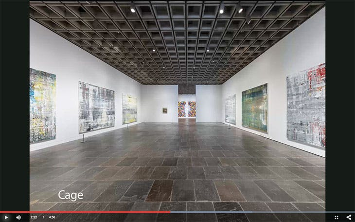 Screenshot of the 'Gerhard Richter: Painting After All' exhibition tour on the Metropolitan Museum of Art's website
