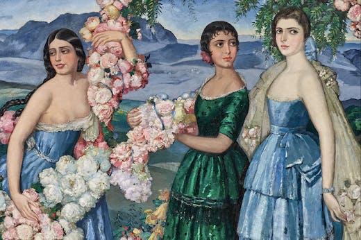 Flores Mexicanas (detail; 1914–29), Alfredo Ramos Martinez.