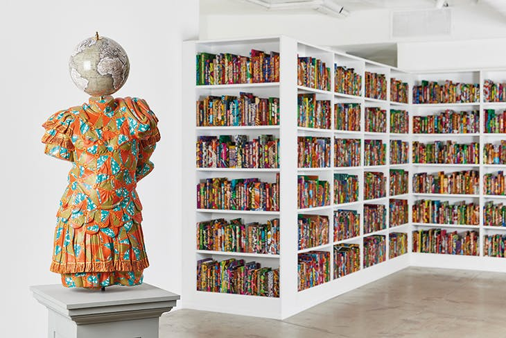 Julio-Claudian, A Marble Torso of Emperor (2018), Yinka Shonibare, installed at Goodman Gallery, Johannesburg, in 2018.