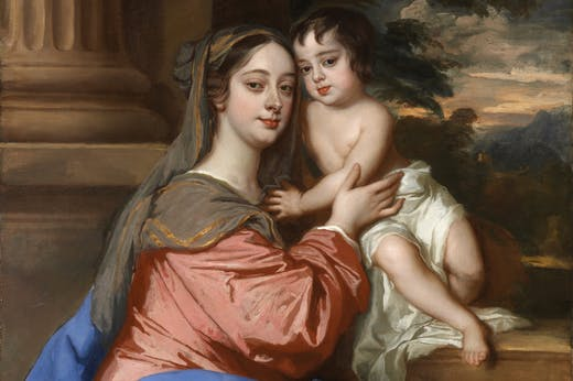 Barbara Palmer (née Villiers), Duchess of Cleveland with her son, probably Charles Fitzroy, as the Virgin and Child (c. 1664), Peter Lely. National Portrait Gallery, London