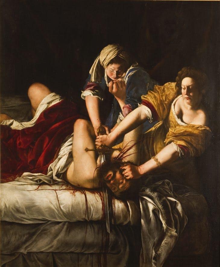 Judith Beheading Holofernes (c. 1613-14), Artemisia Gentileschi.