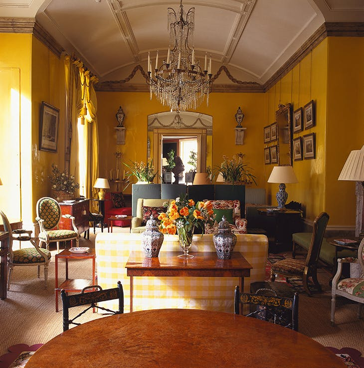 Nancy Lancaster's Yellow Room at 39 Brook Street in Mayfair.