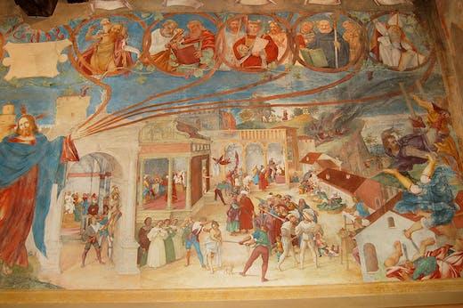 The Christ Vine and Scenes from the Legend of St Barbara (detail; 1523), Lorenzo Lotto. Suardi Chapel, Trescore Balneario. Photo: Pro Loco Trescore Balneario