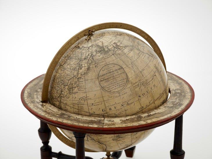 Terrestrial globe (1783), Gabriel Wright and William Bardin.