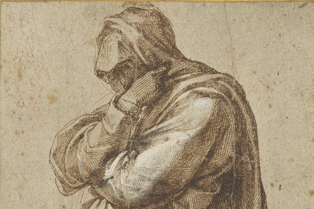 Study of a Mourning Woman (c. 1500–05), Michelangelo Buonarotti.