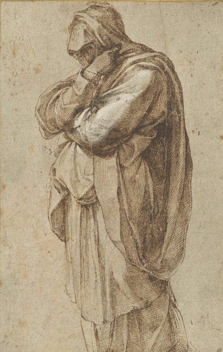 Study of a Mourning Woman (c. 1500–05), Michelangelo Buonarotti