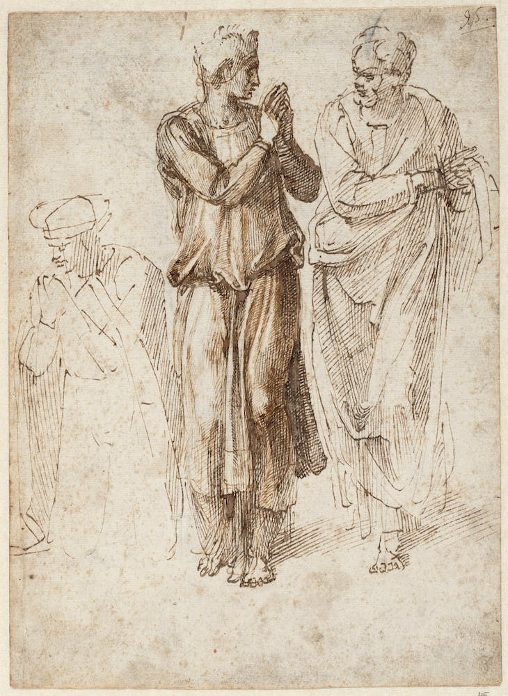 Three Draped Figures with Hands Joined (1496–1503),