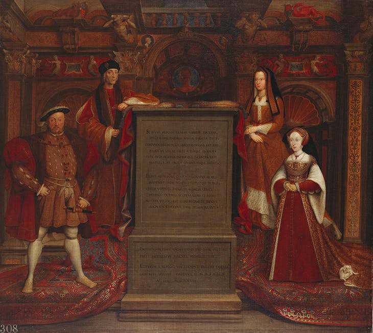 Henry VII, Elizabeth of York, Henry VIII and Jane Seymour (after Hans Holbein). Hampton Court Palace. Photo: Royal Collection Trust/© HM Queen Elizabeth II 2020