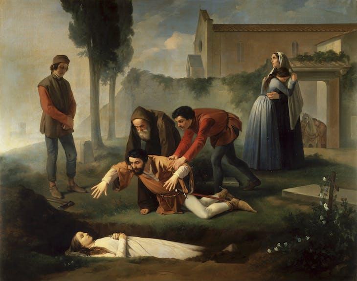 Nello at Pia's Tomb (1851), Enrico Pollastrini.