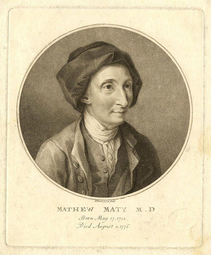 Matthew Maty (1777), Francesco Bartolozzi.