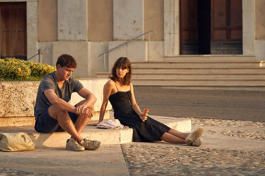 Connell (Paul Mescal) and Marianne (Daisy Edgar-Jones) on holiday in Italy in episode eight of Normal People.