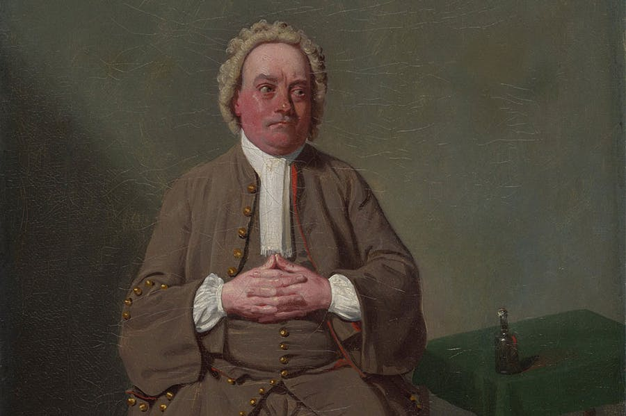 Mr Quick as Vellum in Addison's 'The Drummer' (detail; 1792), Samuel De Wilde. Art Institute of Chicago