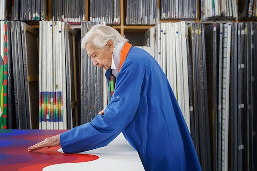 Julio Le Parc, photographed in his studio in Cachan in February 2020 by Claire Dorn