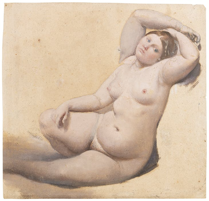 Woman with Three Arms (c. 1859), Jean-Auguste-Dominique Ingres. Musée Ingres Bourdelle, Montauban.