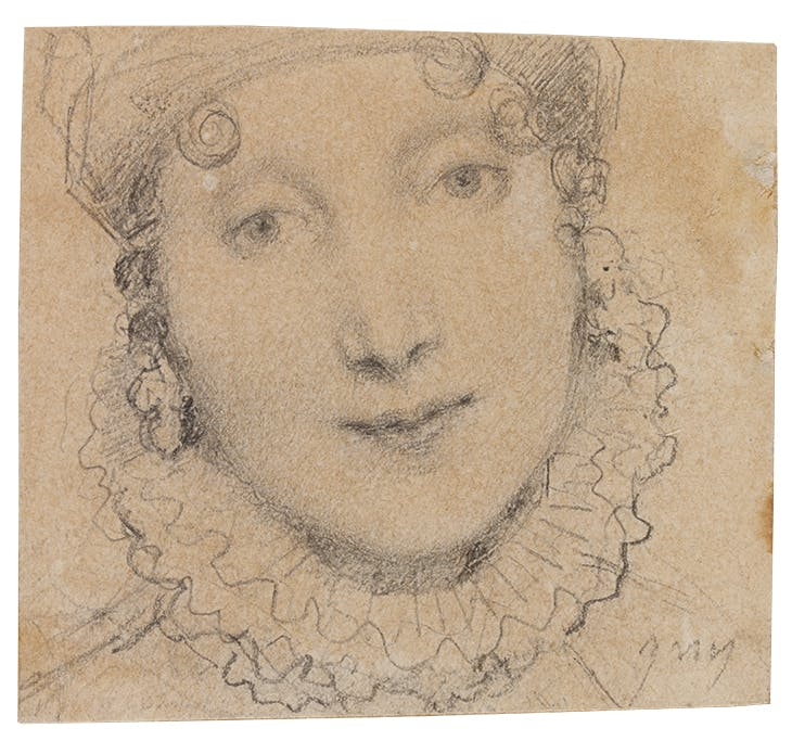 Study for portrait of Caroline Murat (1814), Jean-Auguste-Dominique Ingres. Musée Ingres Bourdelle, Montauban.