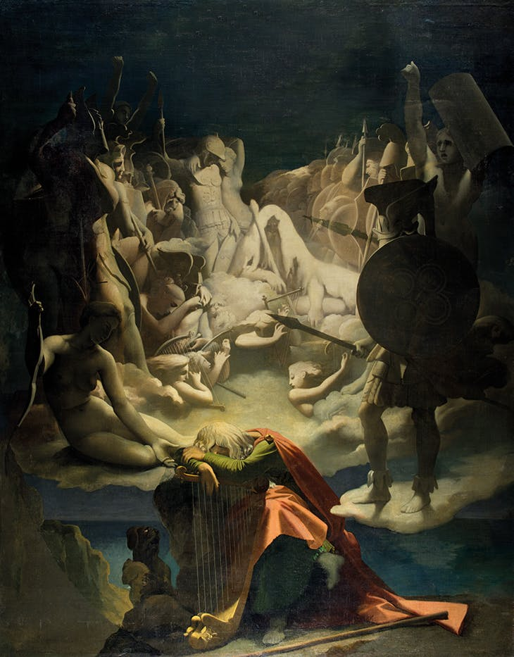 The Dream of Ossian (1813), Jean-Auguste-Dominique Ingres. Musée Ingres Bourdelle, Montauban.