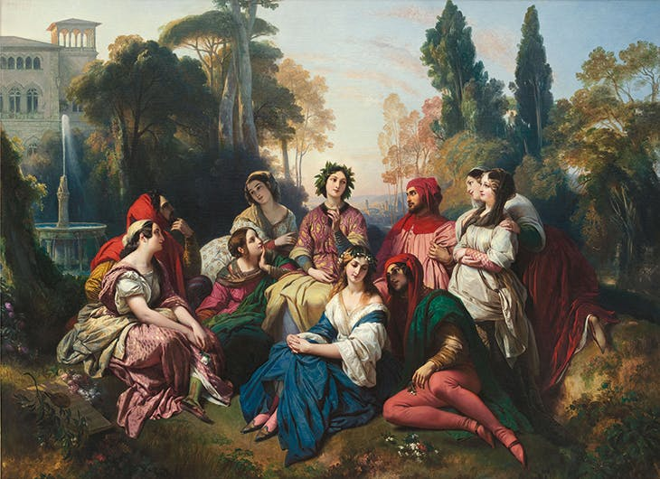 Decameron (1837), Franz Xaver Winterhalter. The Princely Collections, Liechtenstein, Vaduz-Vienna