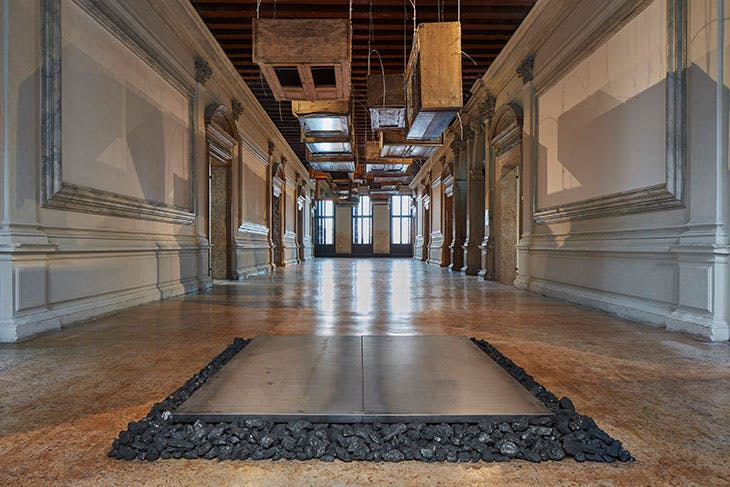 Installation view of 'Jannis Kounellis', curated by Germano Celant, Fondazione Prada, Venice, 2019.