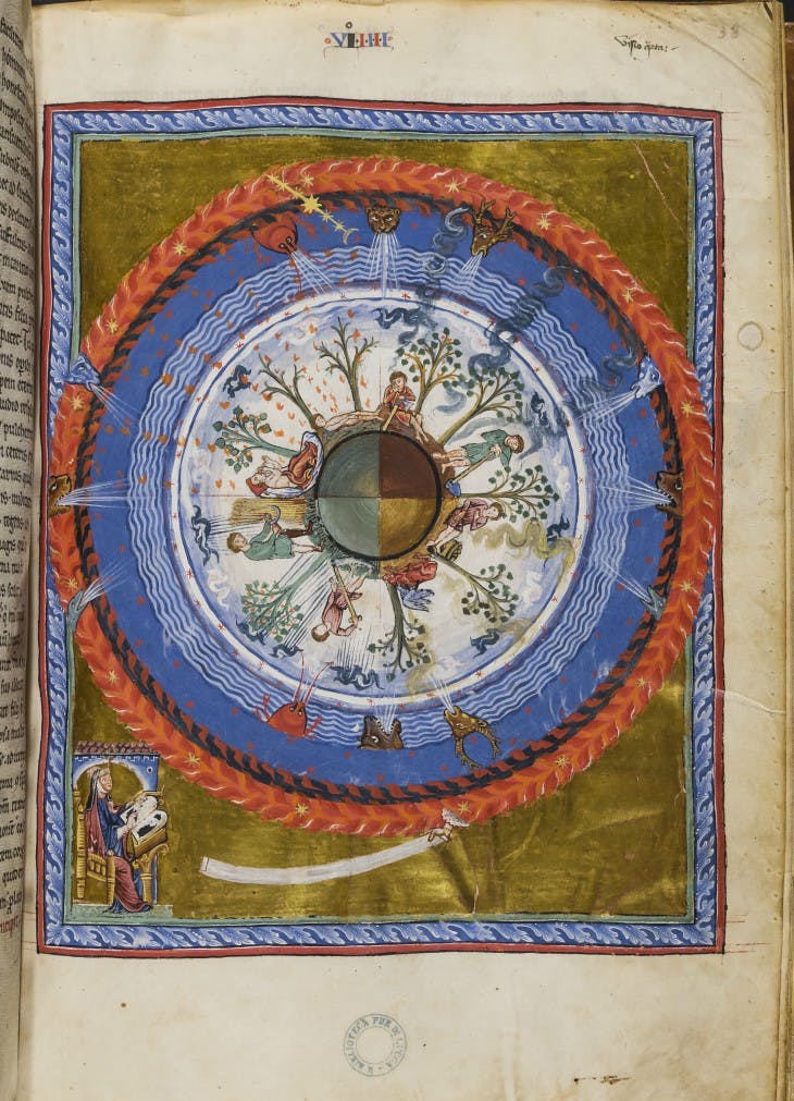 Liber Divinorum Operum (The book of divine works) (13th century), Hildegarde von Bingen.