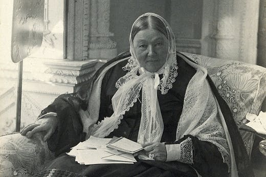 Florence Nightingale photographed by Millbourn in c. 1890. Wellcome Collection, London (CC BY 4.0)