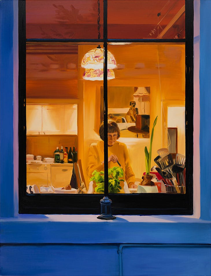 Making Fishcakes, Late Afternoon, December (2019), Caroline Walker.