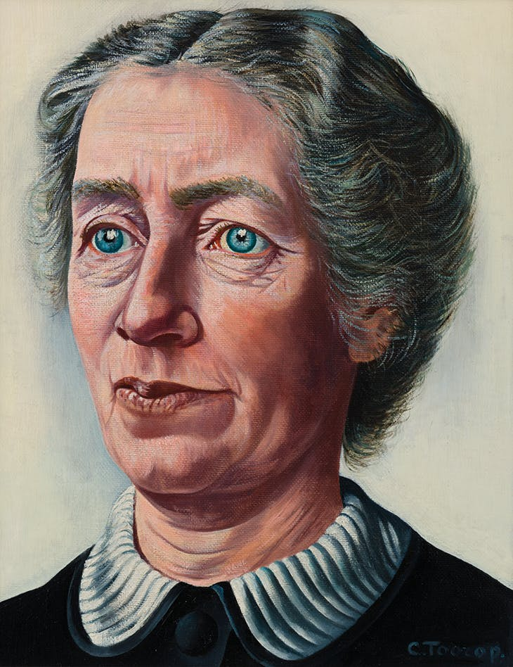 Portrait of Lotte Radermacher-Schorer (1939–40), Charley Toorop. Museum MORE, Gelderland.