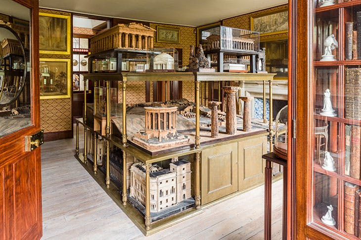 The Model Room after conservation as part of 'Opening Up the Soane'.