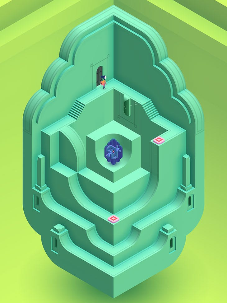 A screenshot from Monument Valley 2.