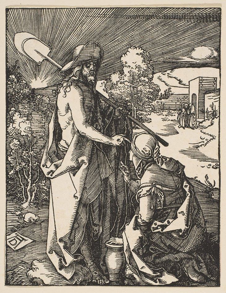 Christ Appearing to Mary Magdalene (c. 1510), Albrecht Dürer. Metropolitan Museum of Art, New York