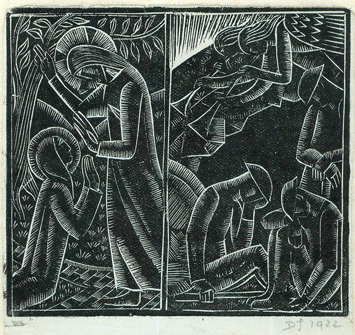 Noli Me Tangere/Soldiers at the Tomb (1922), David Jones.