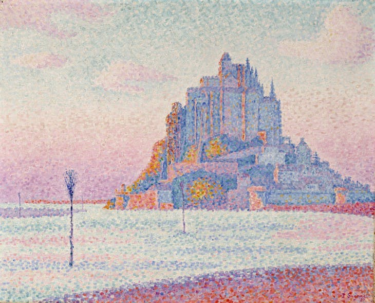 Mont St. Michel (1897), Paul Signac.
