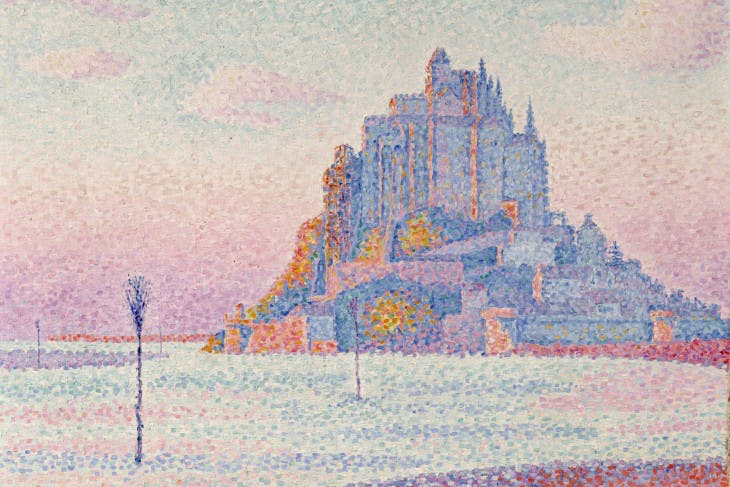 Mont Saint Michel (detail; 1897), Paul Signac.