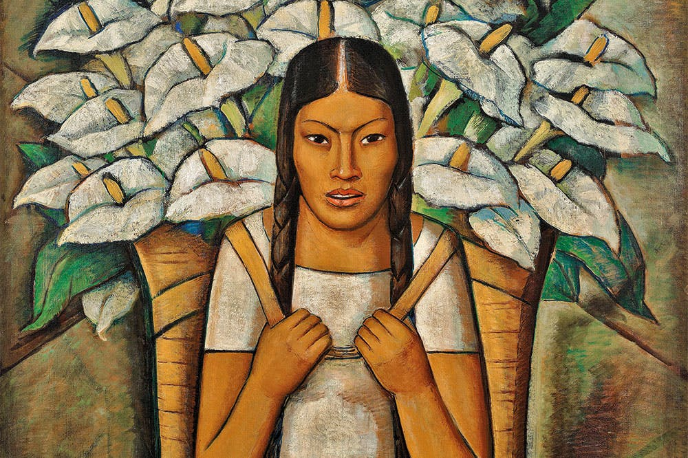 Calla Lily Vendor (detail; 1929), Alfredo Ramos Martínez. © The Alfredo Ramos Martínez Research Project