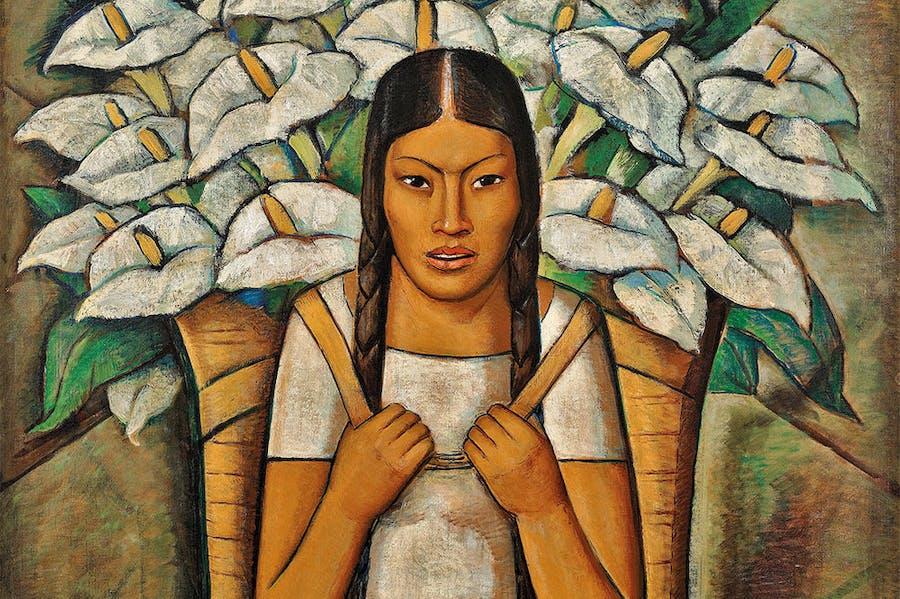 Calla Lily Vendor (detail; 1929), Alfredo Ramos Martínez. © The Alfredo Ramos Martínez Research Project